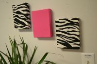 Zebra Fabric Wall Hangings Red Turquoise Hot Pink Purple ...