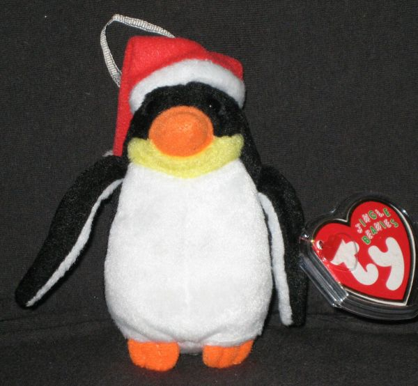 Ty Penguin Jingle Beanie Baby - Mint With