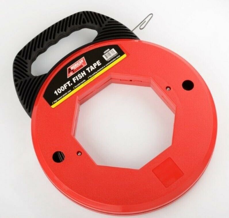 100 Foot Steel Fish Tape Electrical Cable Wire Puller Fishtape Pulling