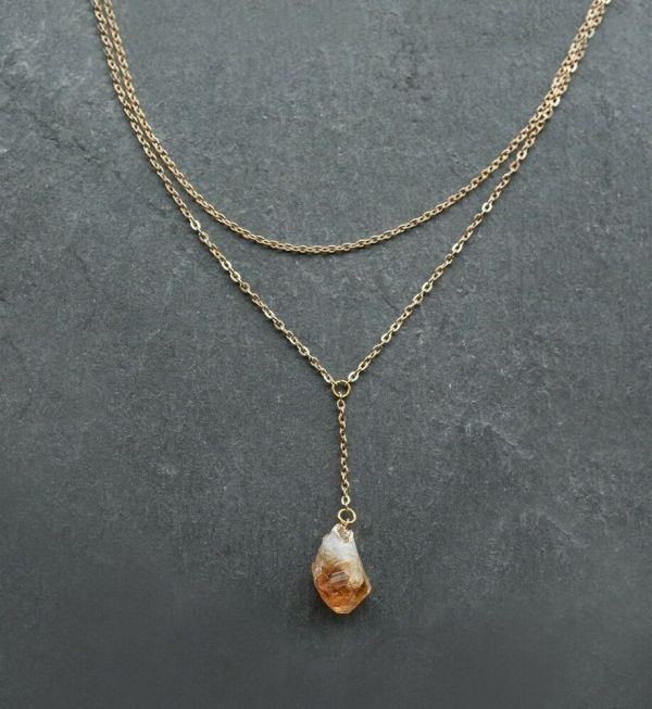 Antique Gold Heart Pill Box Necklace - Vintage Style
