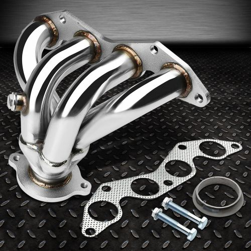 small resolution of stainless racing manifold header exhaust 01 05 honda civic ex 1 7l d17a2 4 cyl ebay