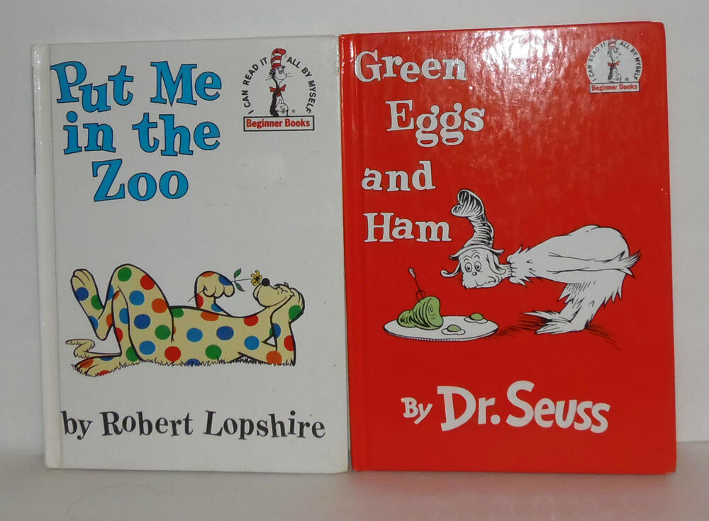 Set Of 2 Dr Seuss Books  1988  Green Eggs And Ham
