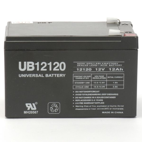 Upg Ub12120f2 12v 12ah F2 6-dzm-12 Ups Apc Scooter Medical Rechargeable Battery