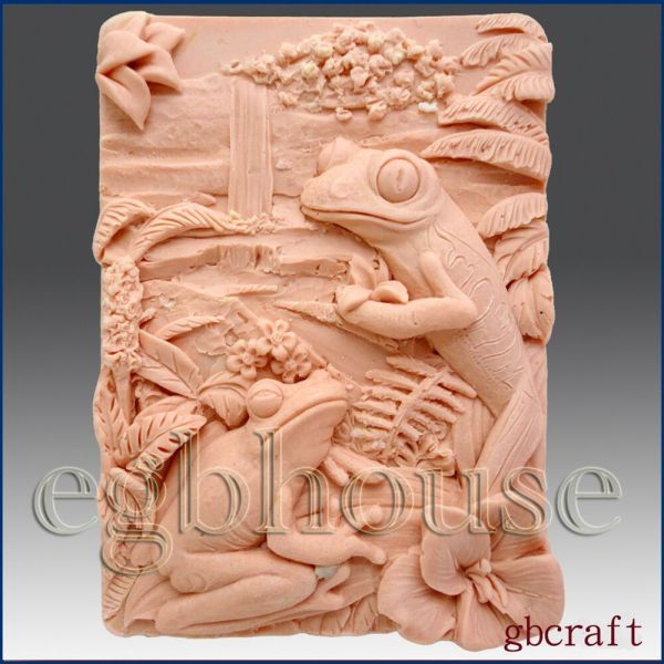 Tree Frogs - Detail Of High Relief Sculpture Soap