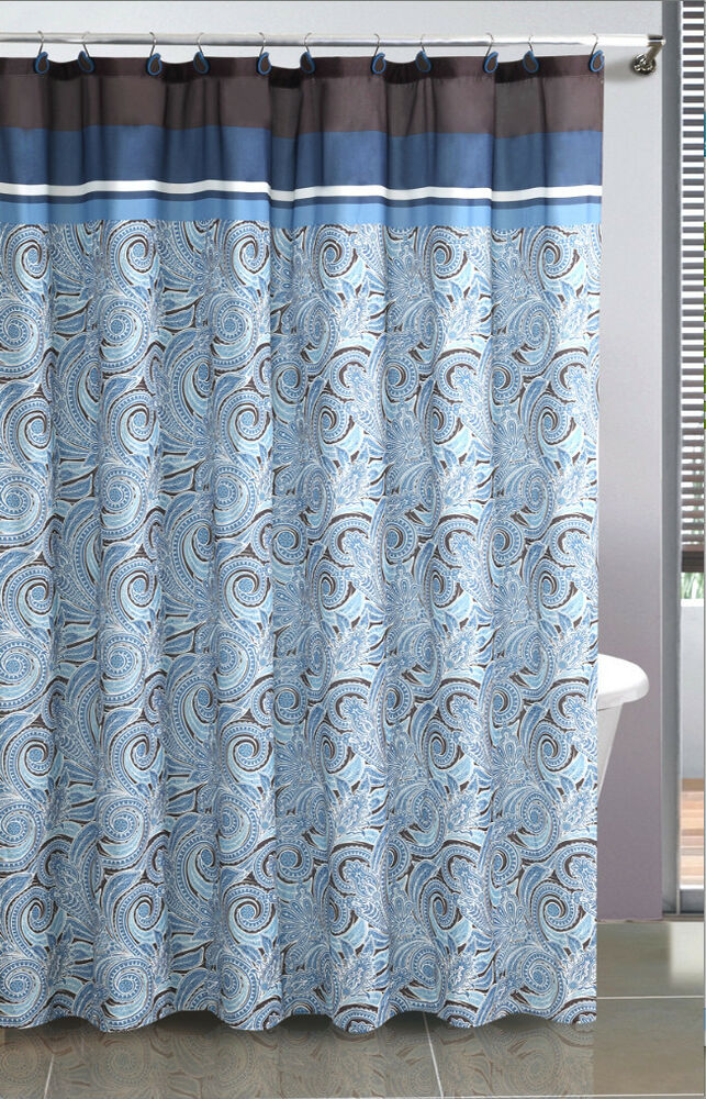 Vista Paisley Fabric Shower Curtain Available In 3 Colors  eBay