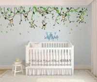 Custom Personalised Name Monkey Vine Wall Art Stickers ...