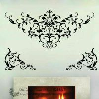 Large Damask Removable Wall Art Decals Vinyl Stickers ...