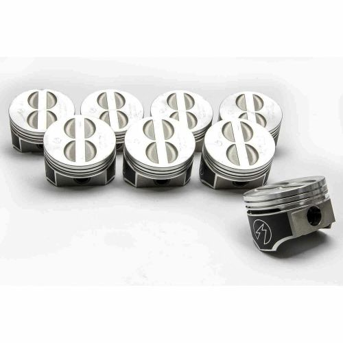 small resolution of details about speed pro trw chevy 350 5 7 forged flat top coated skirt pistons set 8 020