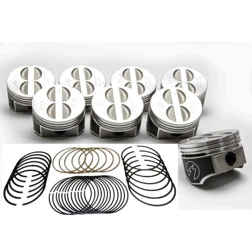 small resolution of details about speed pro trw chevy 350 5 7 forged flat top coated skirt pistons moly rings 30