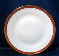 Richard Ginori Italy Red Gilt Porcelain Dinner Plate