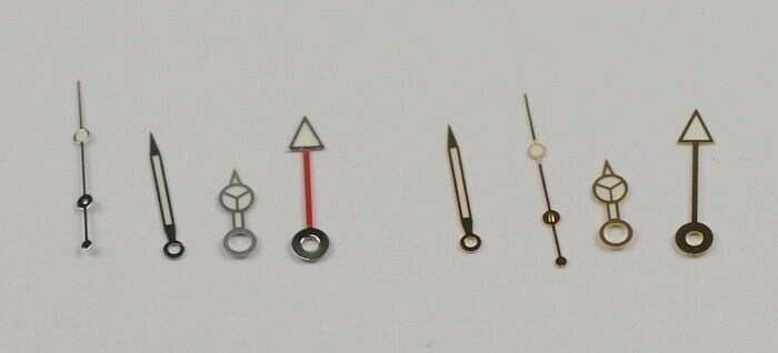 Generic hands for Rolex Explorer GMT watch gold/silver