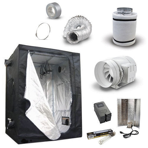 Hydroponic Grow Room Tent Kit Fan Carbon Filter 4 5 6 Light Kit  250 400 600w  eBay