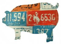 Pig Shaped License Plate Collage Metal Wall Art | eBay