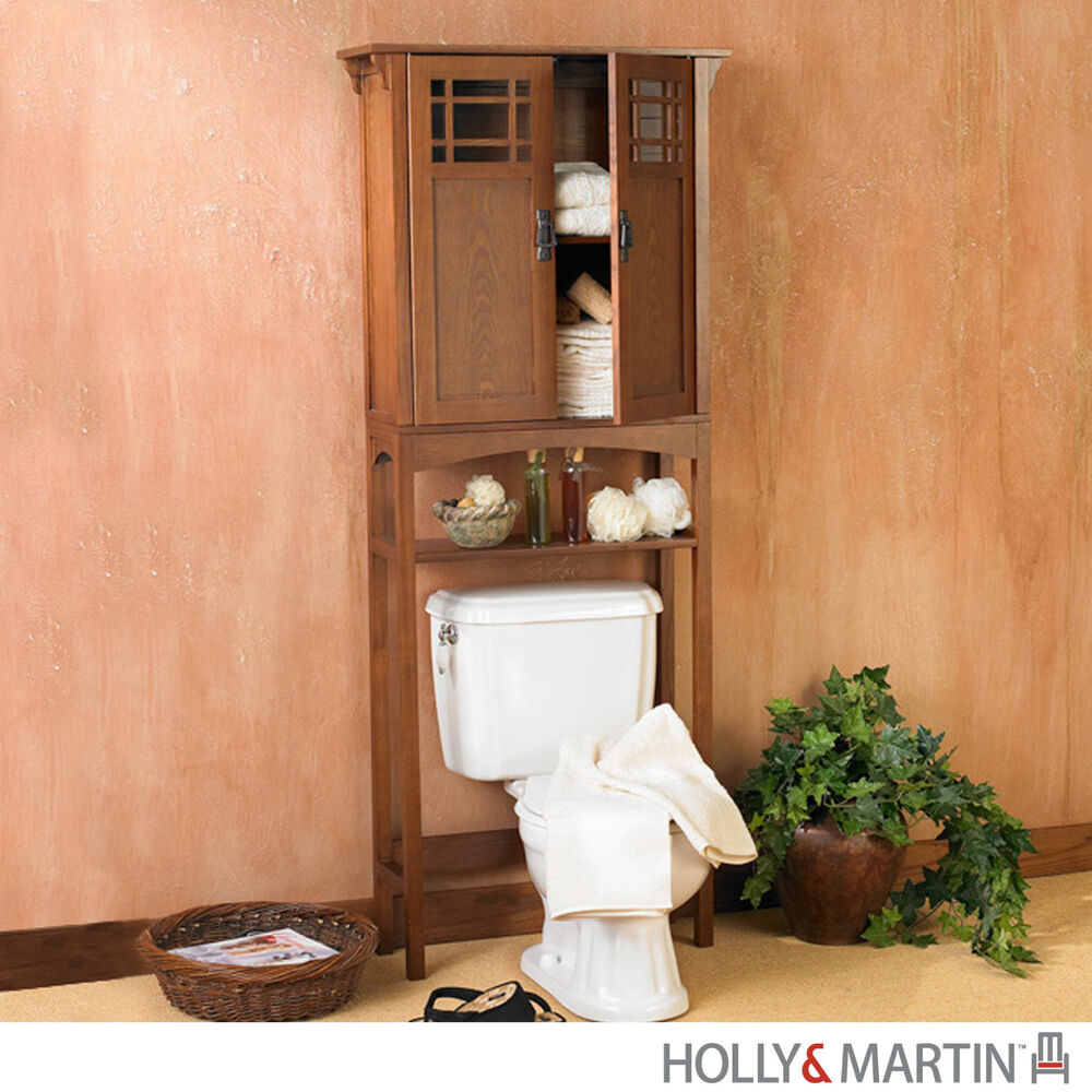 CONNOR Bath SPACESAVER Mission OAK Over Toilet Storage Bathroom Cabinet MARTIN  eBay
