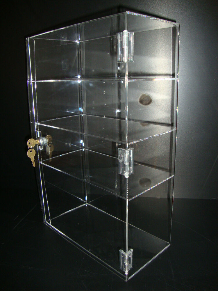 Acrylic Countertop Display Case 12 x 6 x 19 Locking