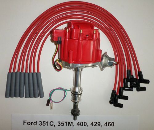 small resolution of big block ford 351c 351m 400 429 460 red hei distributor dodge spark plug wiring diagram