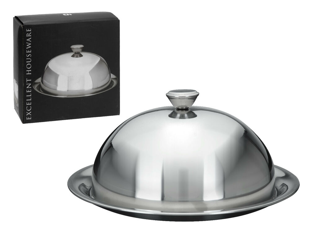 LargeFood Cover Dome with Plate Restaurant Stainless Steel Cloche Serving Dish  eBay