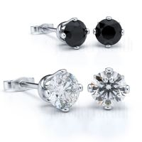 Pair of Mens Ladies 925 Sterling Silver Stud Earrings ...