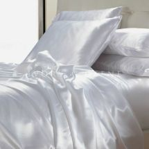 White Satin Sheet Set King