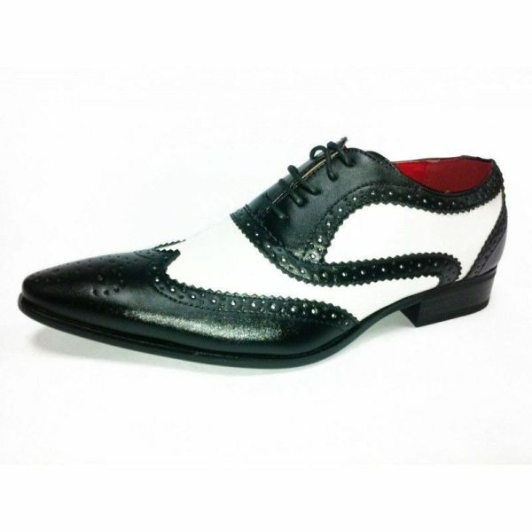 Mens Gangster Party Dress Leather Spats Brogues Lace