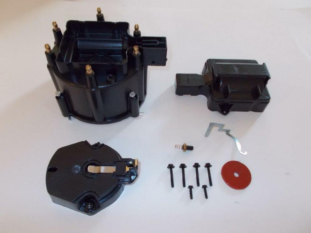 ford hei ignition solar micro inverter wiring diagram 6 cylinder distributor cap, coil cover & rotor kit black gm-chevy-ford v6   ebay