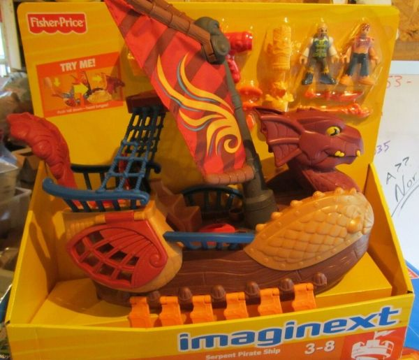 Imaginext Castle Dragon World Fortress Serpent Pirate Ship