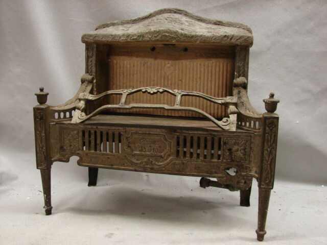 Tin Fireplace Surround Antique Late 1800's Cast Iron Ornate Gas Fireplace Insert