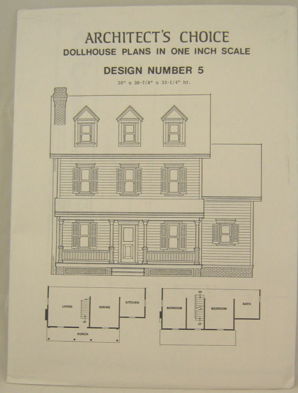 Dollhouse Plans Design 5 Architects Choice 112 Scale