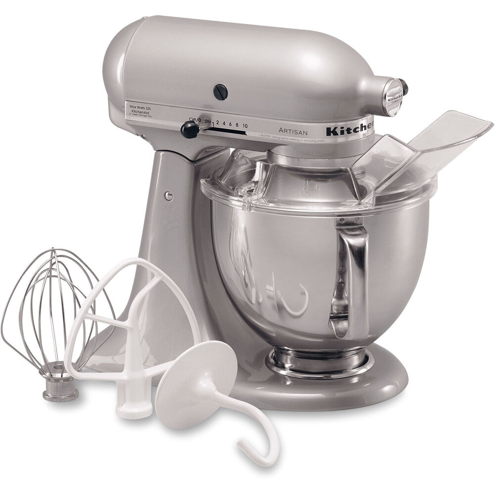 KitchenAid Metallic Chrome Artisan 5Quart TiltHead Stand Mixer KSM150PSMC 50946908366  eBay