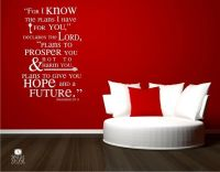 Jeremiah 29:11 For I Know The Plans Wall Decal Quote ...