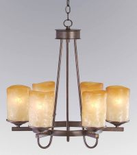 6 LIGHT RUSTIC IRON CANDLE ROUND VERANDA CHANDELIER ...