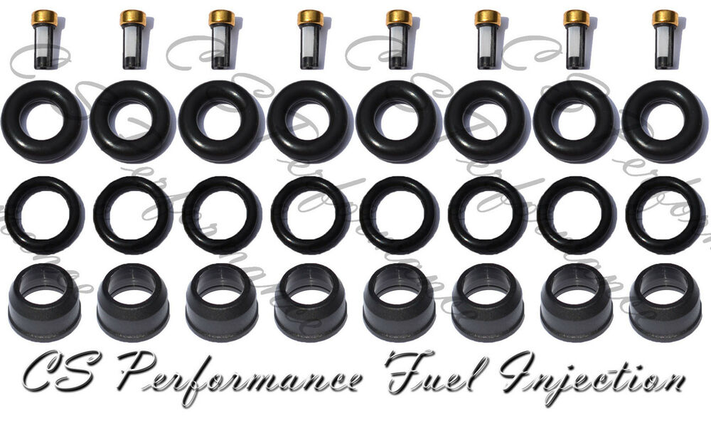 Fuel Injector Rebuild Seal Kit Rings Filters Caps GMC 4.8