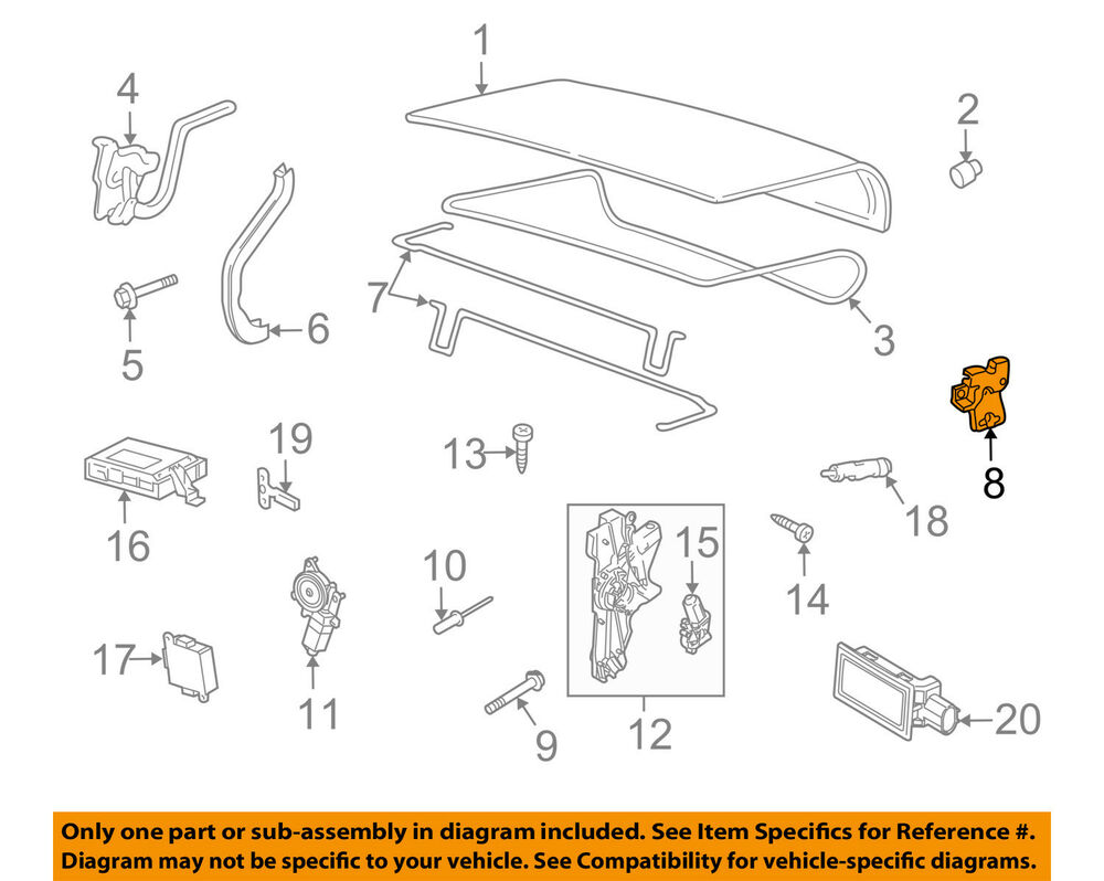 hight resolution of details about lincoln ford oem town car trunk lock or actuator latch release 8w1z5443200a