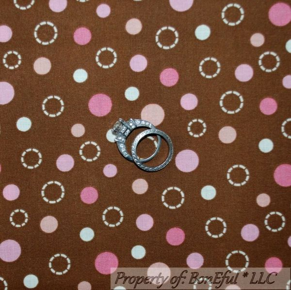 Pink with White Polka Dot Fabric