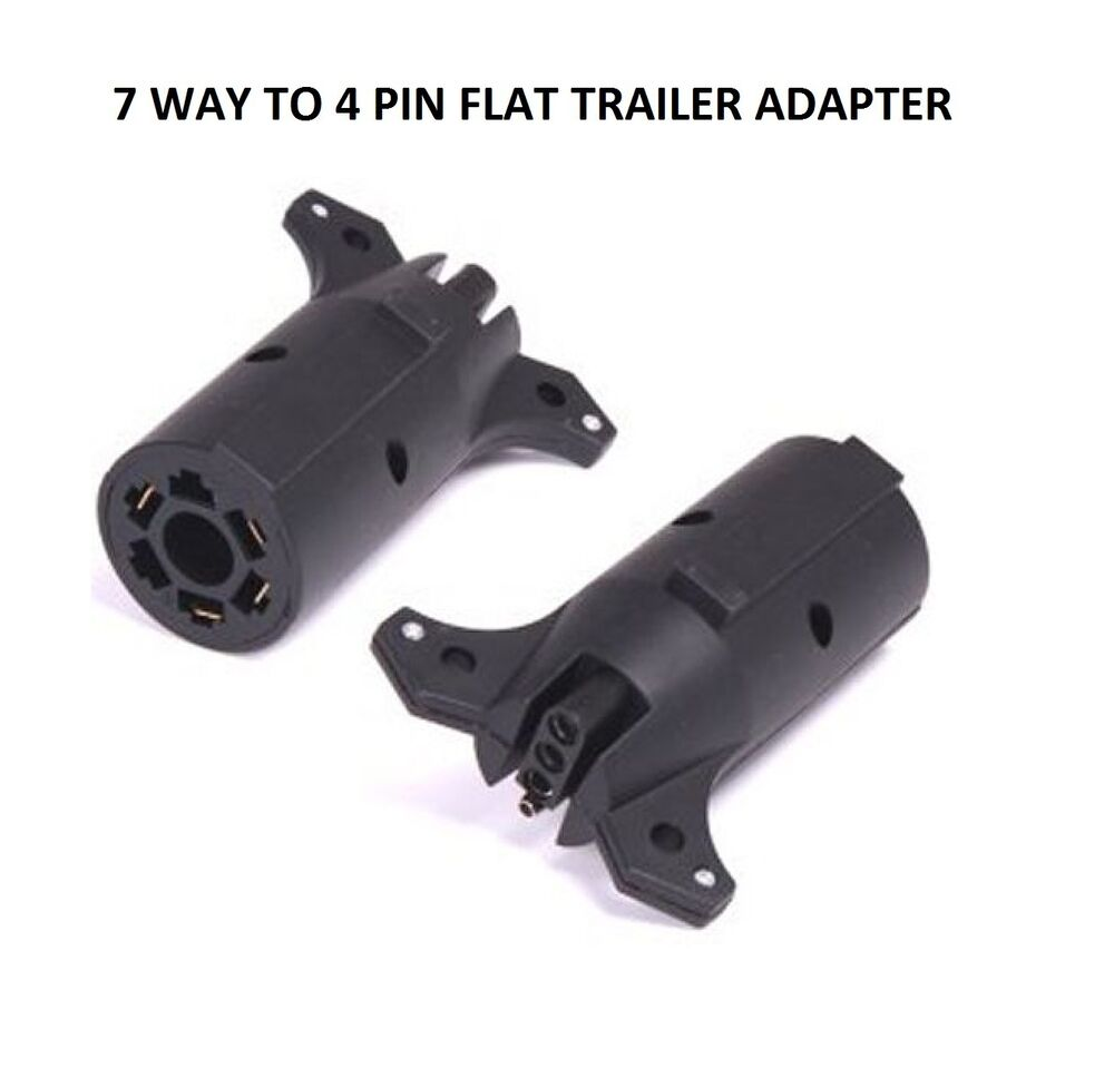 On Way Wiring Harness Adaptor From Flat To 7 Round Wire Trailer Rv