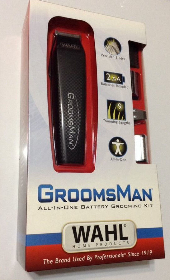 NEW Wahl GroomsMan All In One Battery Grooming Kit