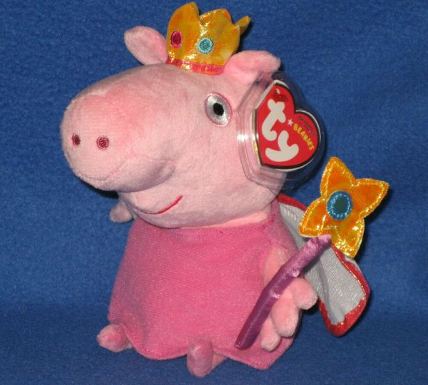 Ty Princess Peppa Pig Beanie Baby - With Mint