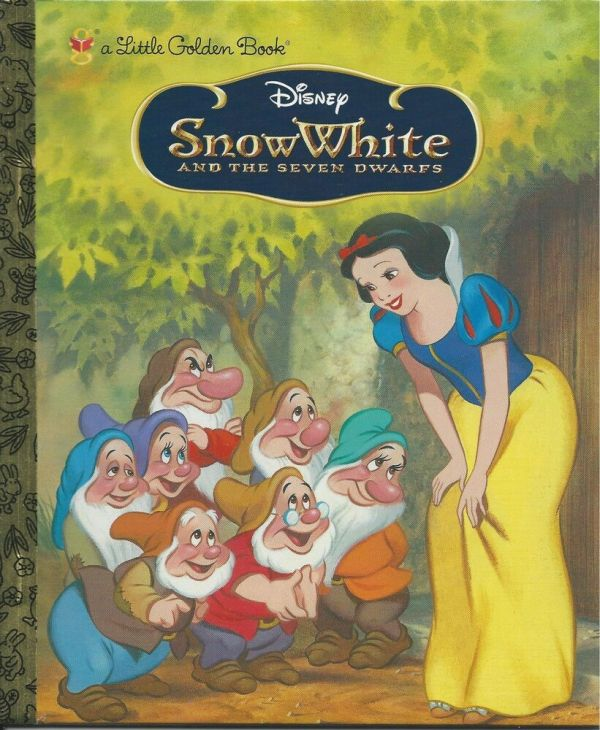 Snow White And Seven Dwarfs Little Golden Book Vintage Art Walt Disney 736421866