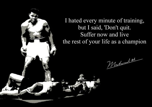 BOXING MUHAMMAD ALI INSPIRATIONAL POSTER WITH PREPRINTED
