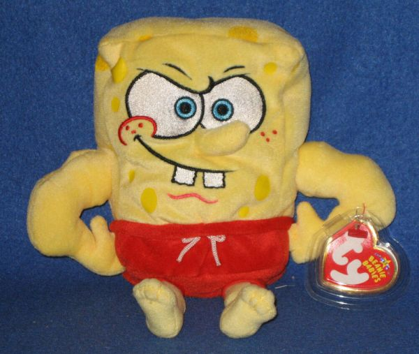 Ty Musclebob Buffpants Beanie Baby - Spongebob Mint With Tags