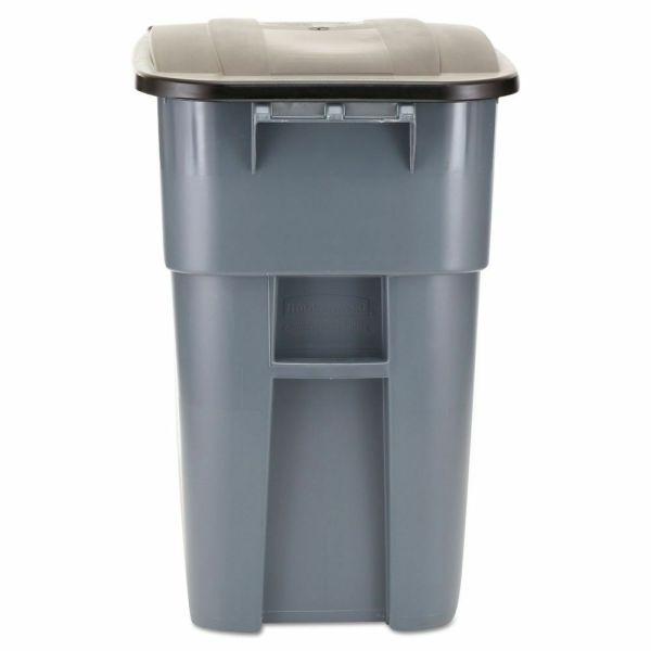 Rubbermaid Brute Multipurpose Rollout 50 Gallon Trash With Lid - Rcp9w27gy