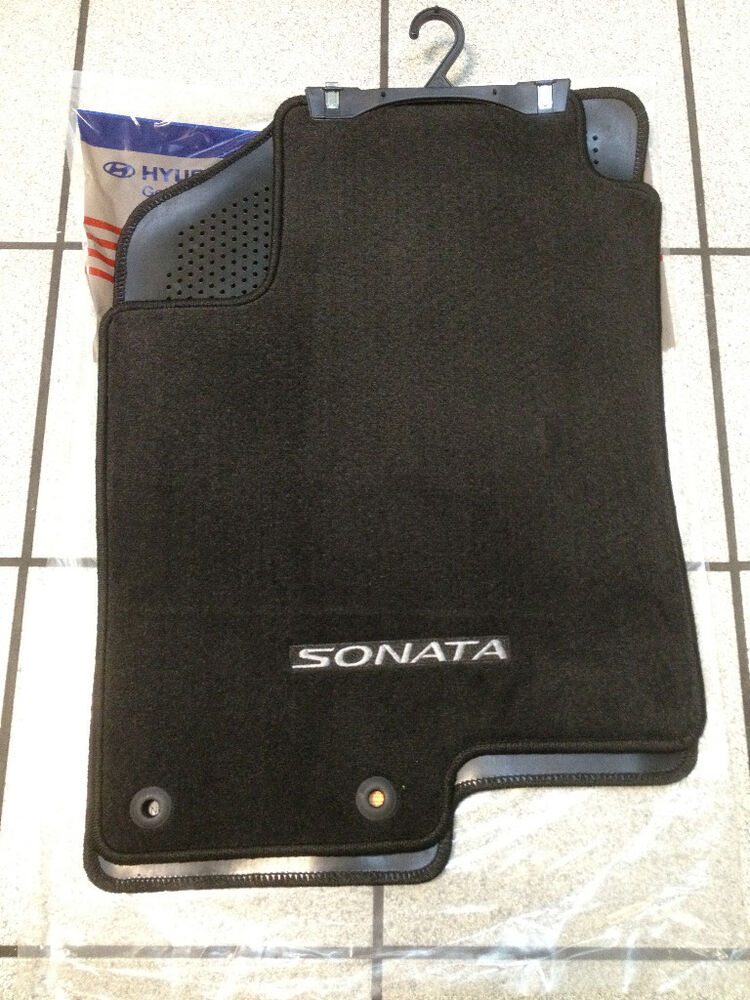 2009 2010 Hyundai Sonata Black Carpet Floormats GLS