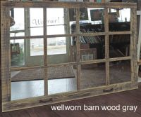 Barn Wood 12-Pane Window Mirror Rustic Mantel or Wall ...