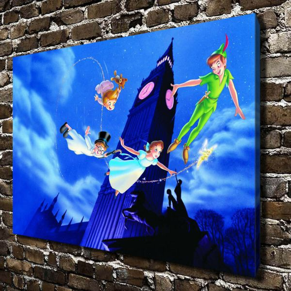 Disney Peter Pan Hd Print Canvas Home Decor Paintings Wall Art