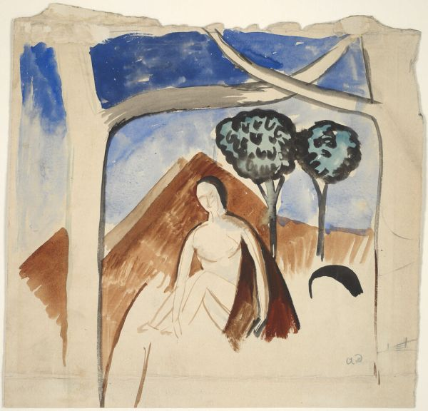 Andre Derain Reproduction Woman And Mountain - Fine Art Print
