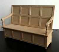 Tudor Bench, Dolls House Miniature. Doll house furniture ...