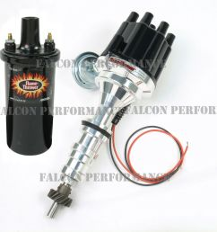 pertronix ignitor ii 2 billet flame thrower distributor ford coil wiring harness 69 ford ignition wiring [ 1000 x 1000 Pixel ]
