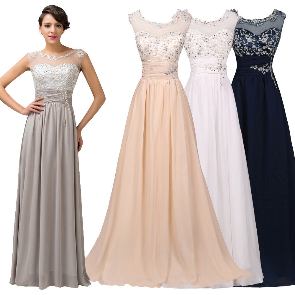 LONG Mother Of The BrideGroom Formal Evening Wedding Guest Maxi Dress Prom Gown  eBay