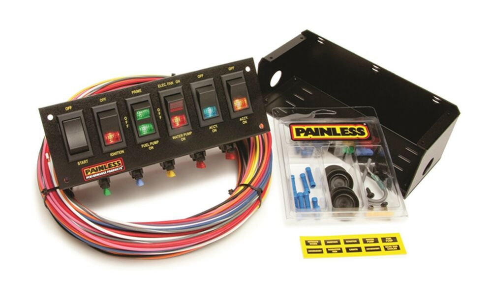 Painless Wiring 50302 6-Switch Fused Race Car Rocker