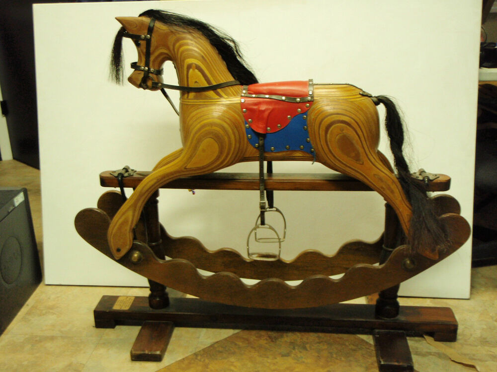 Beautiful hand made Wooden Rocking Horse made by Ian